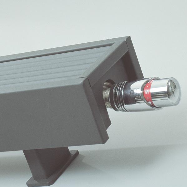 Grzejnik Mini - głowica Deco Chrom
