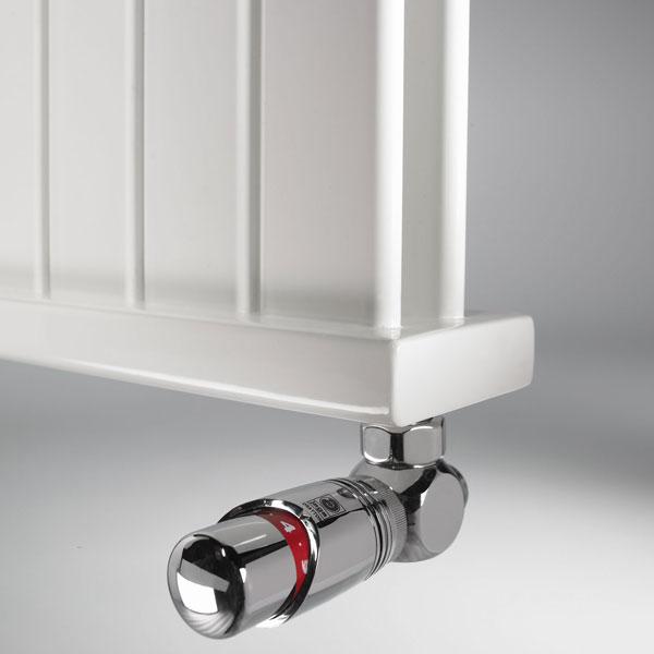 Grzejnik Deco Panel - głowica termostatyczna Jaga DECO - chrom
