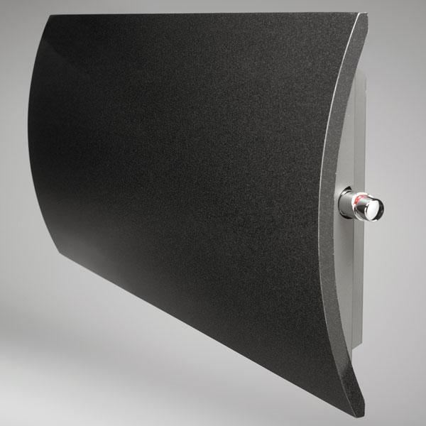 Grzejnik Geo poziomy - czarny matowy