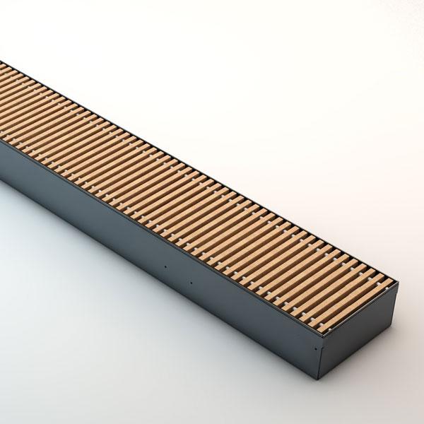 Grzejnik Clima / Quatro Canal - kratka drewniana