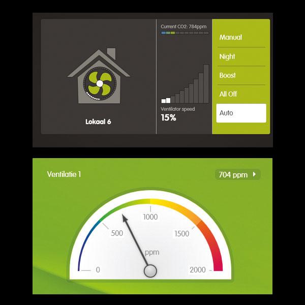 System kontroli wszystkich parametrów w wielu pomieszczeniach Jaga Eco2Fit