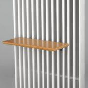 Grzejnik Deco Space - półka drewniana