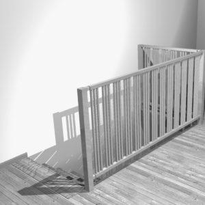 Grzejnik - barierka schodów